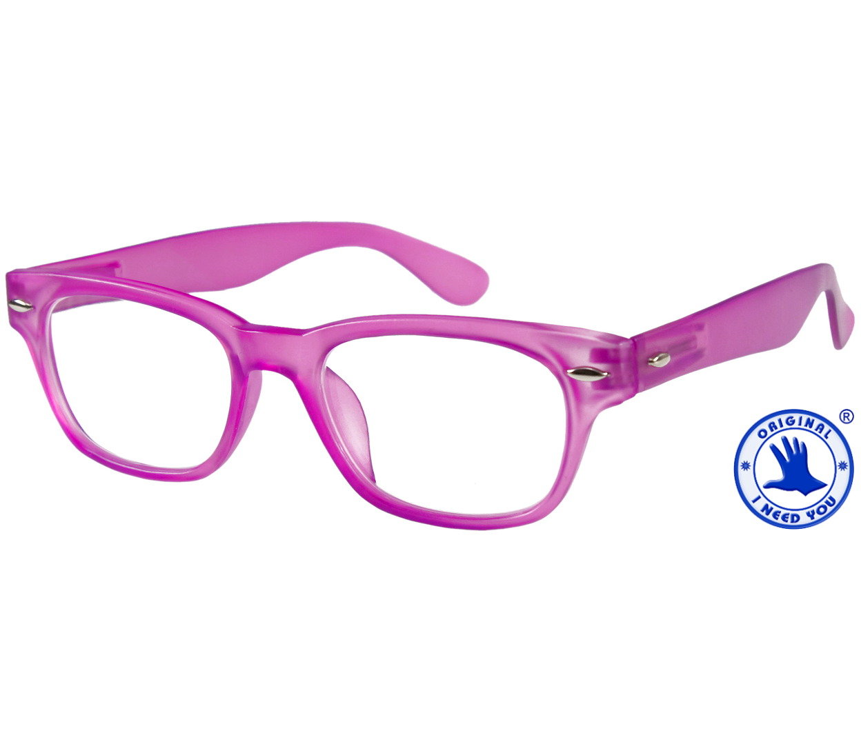 Main Image (Angle) - Woody (Pink) Retro Reading Glasses