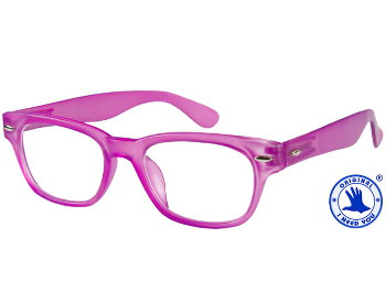 Woody (Pink) Retro Reading Glasses - Thumbnail Product Image