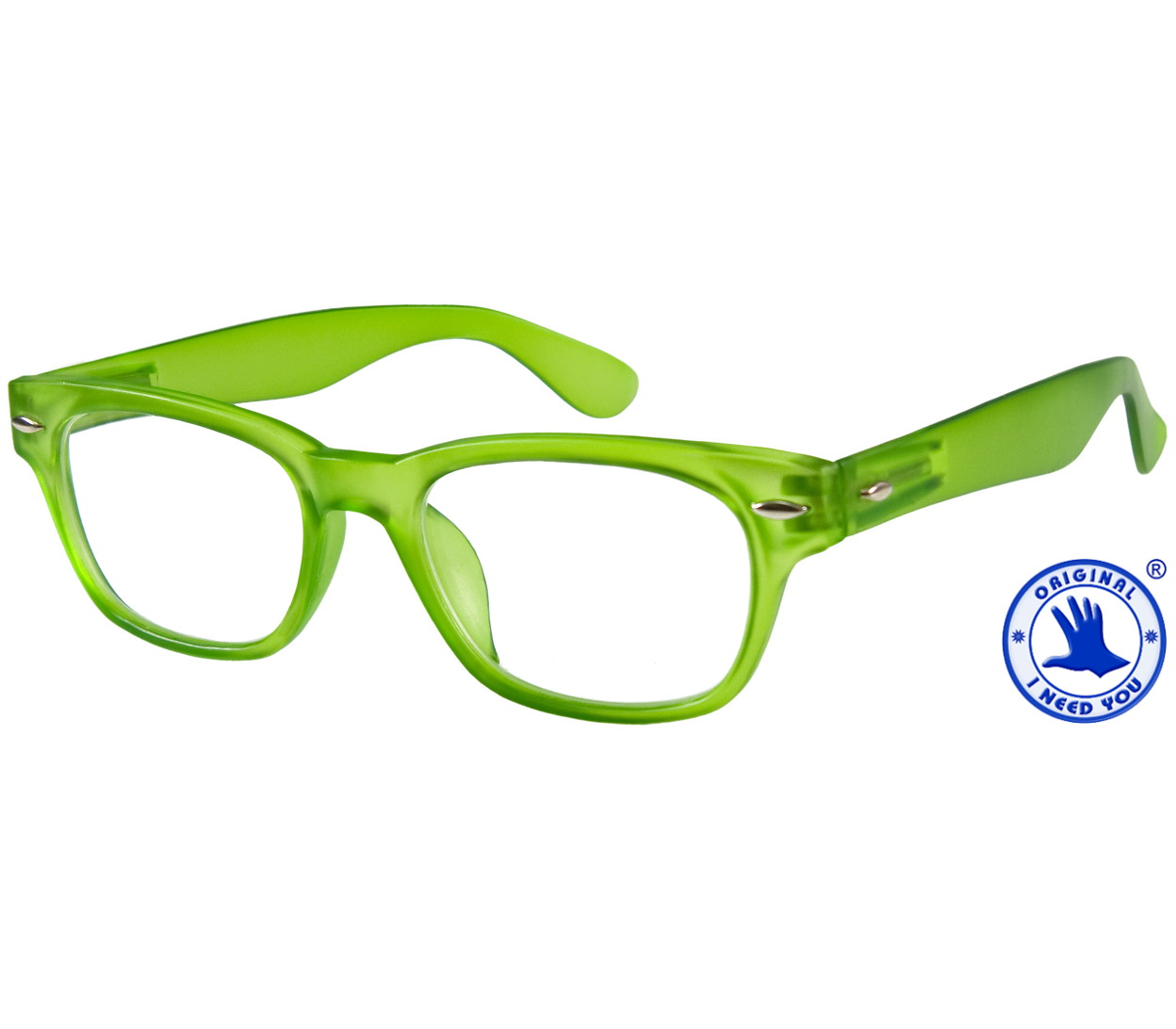 Main Image (Angle) - Woody (Green) Retro Reading Glasses