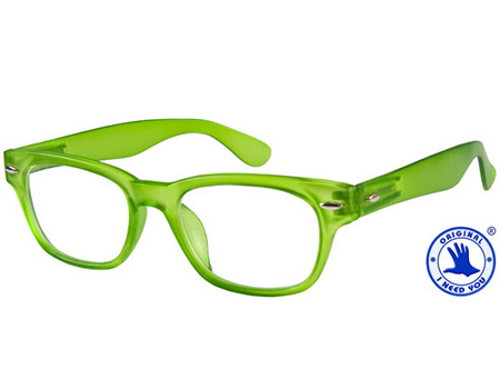 Woody (Green) Retro Reading Glasses - Thumbnail Product Image