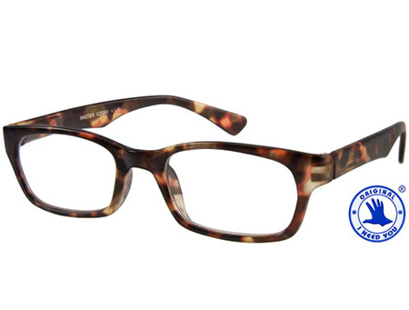 Master (Tortoiseshell) Retro Reading Glasses - Thumbnail Product Image