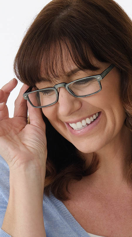 Clever (Grey) Classic Reading Glasses - Thumbnail Model Image