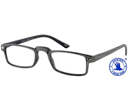 Clever (Grey) Classic Reading Glasses - Thumbnail Product Image