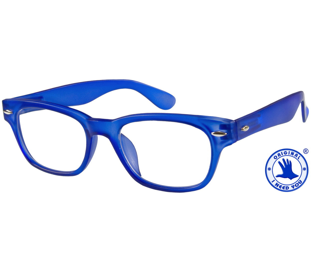 Main Image (Angle) - Woody (Blue) Reading Glasses