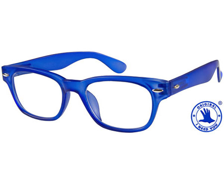 Woody (Blue) Retro Reading Glasses - Thumbnail Product Image