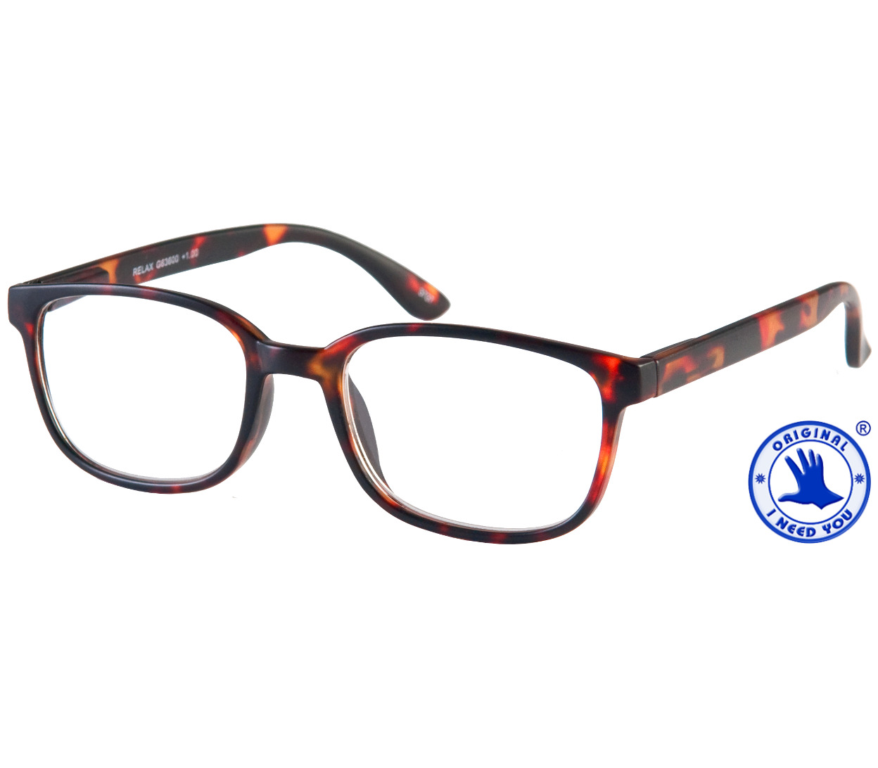 Main Image (Angle) - Relax (Tortoiseshell) Retro Reading Glasses