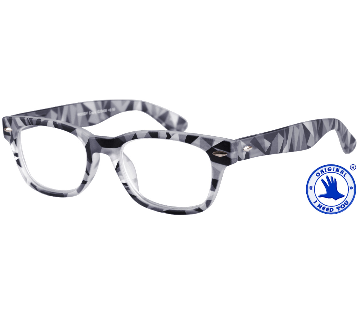 Woody (Grey) Retro Reading Glasses