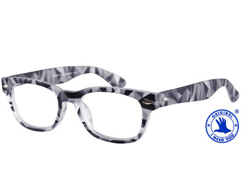 Woody (Grey) Retro Reading Glasses - Thumbnail Product Image