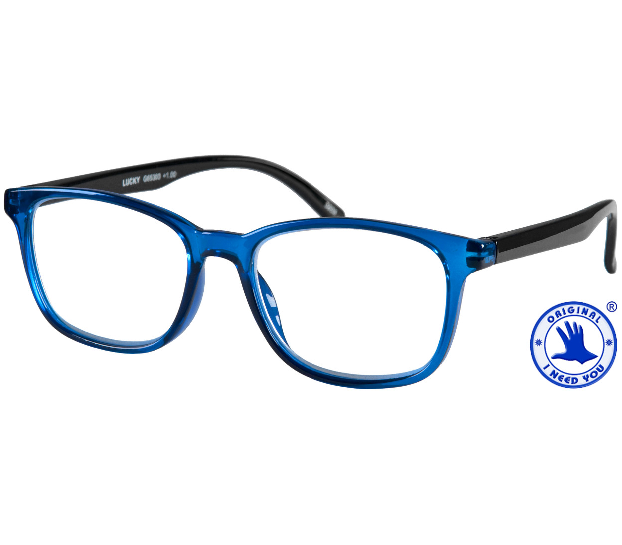 Main Image (Angle) - Rocket (Blue) Retro Reading Glasses
