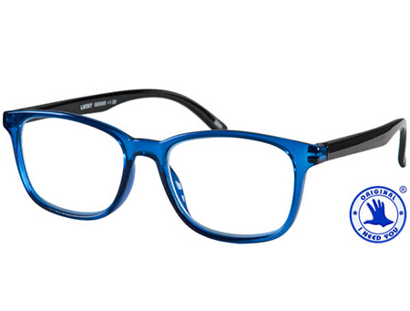 Rocket (Blue) Retro Reading Glasses - Thumbnail Product Image