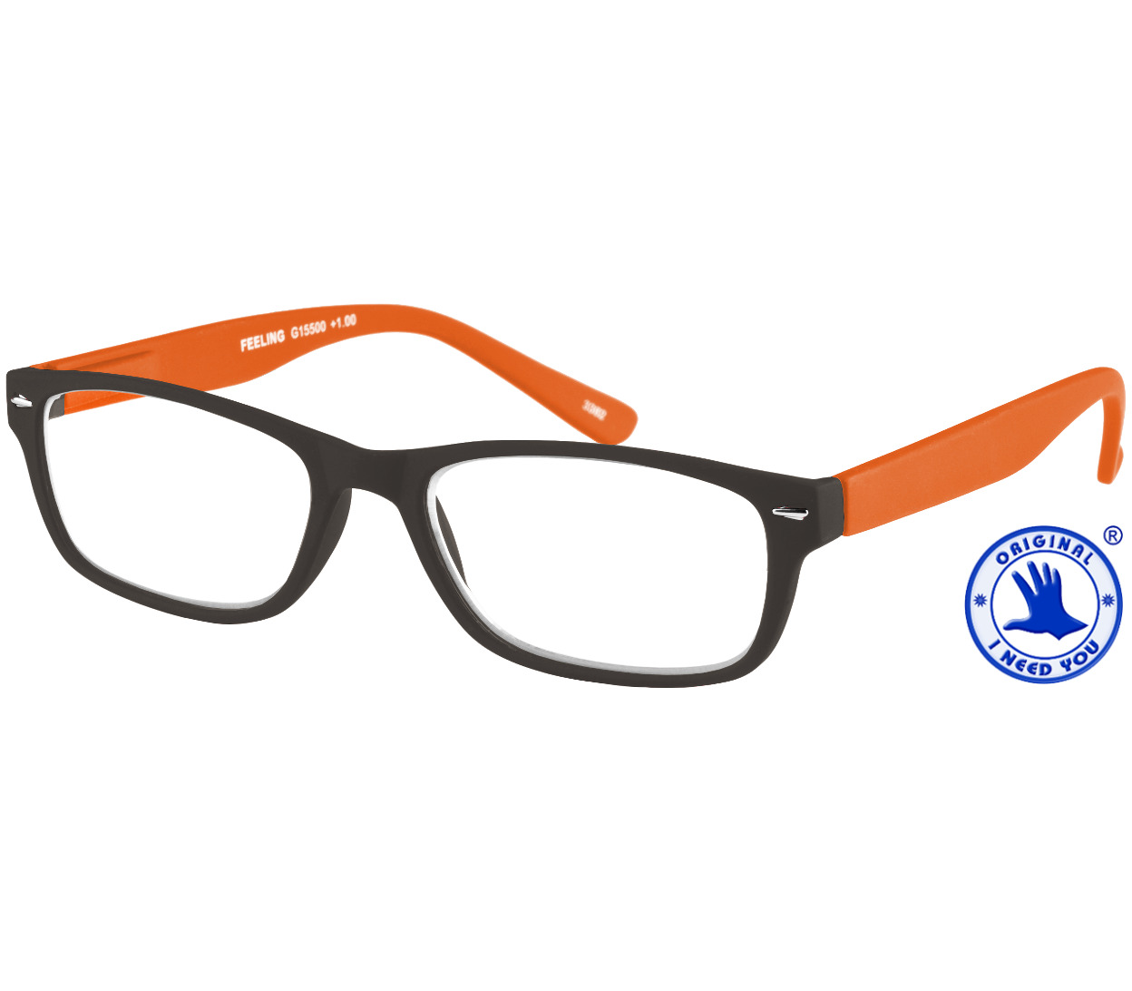 Main Image (Angle) - Feeling (Orange) Classic Reading Glasses