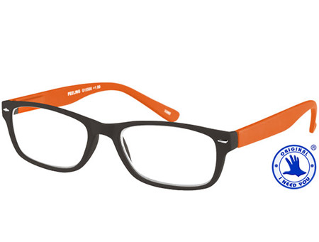 Feeling (Orange) Classic Reading Glasses - Thumbnail Product Image
