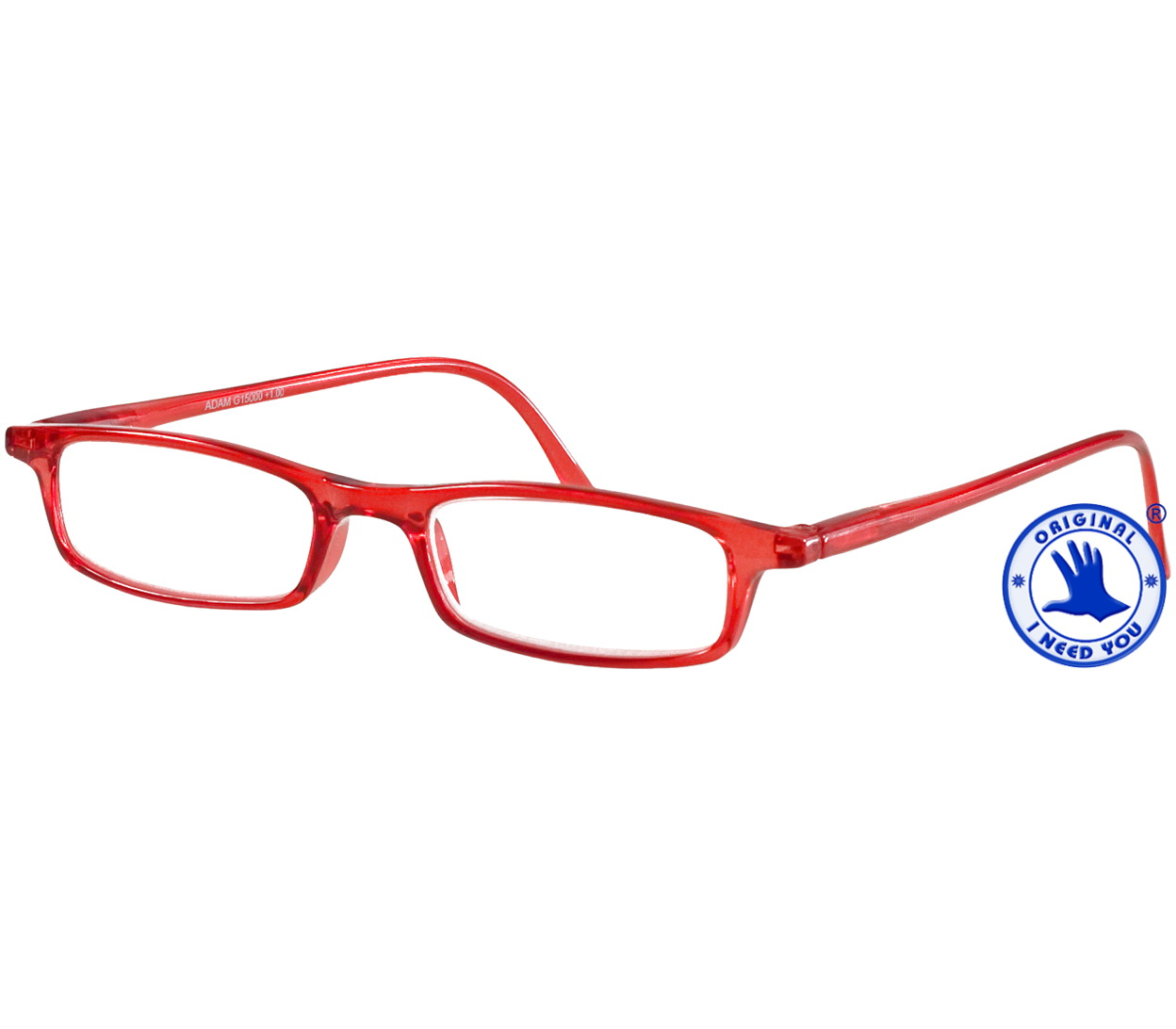 Main Image (Angle) - Adam (Red) Classic Reading Glasses