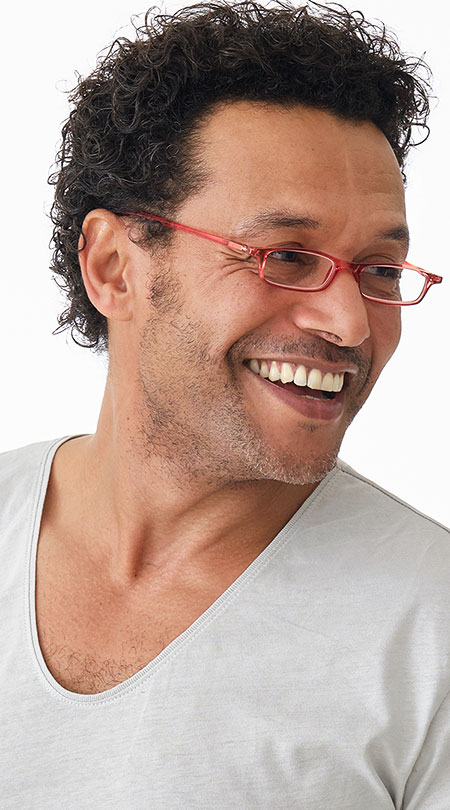 Adam (Red) Classic Reading Glasses - Thumbnail Model Image