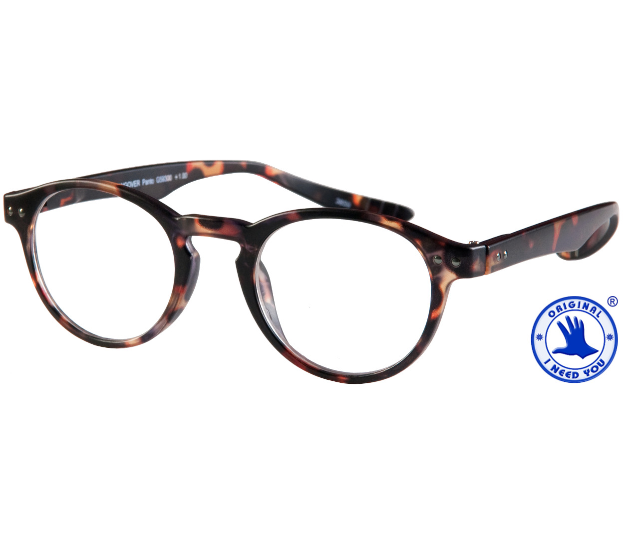 Main Image (Angle) - Jigsaw (Tortoiseshell) Neck Hanging Reading Glasses