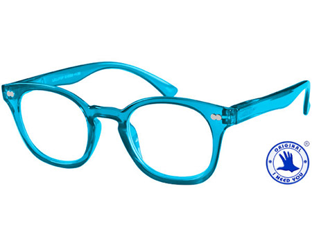 Lollipop (Blue) Retro Reading Glasses - Thumbnail Product Image