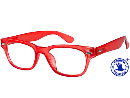 Woody (Red) Retro Reading Glasses - Thumbnail Product Image