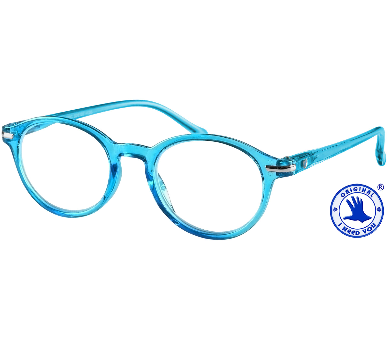 Main Image (Angle) - Tropic (Blue) Retro Reading Glasses