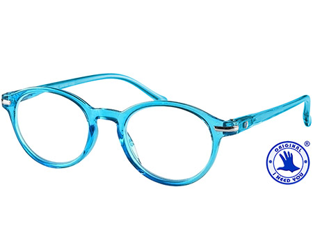 Tropic (Blue) Retro Reading Glasses - Thumbnail Product Image