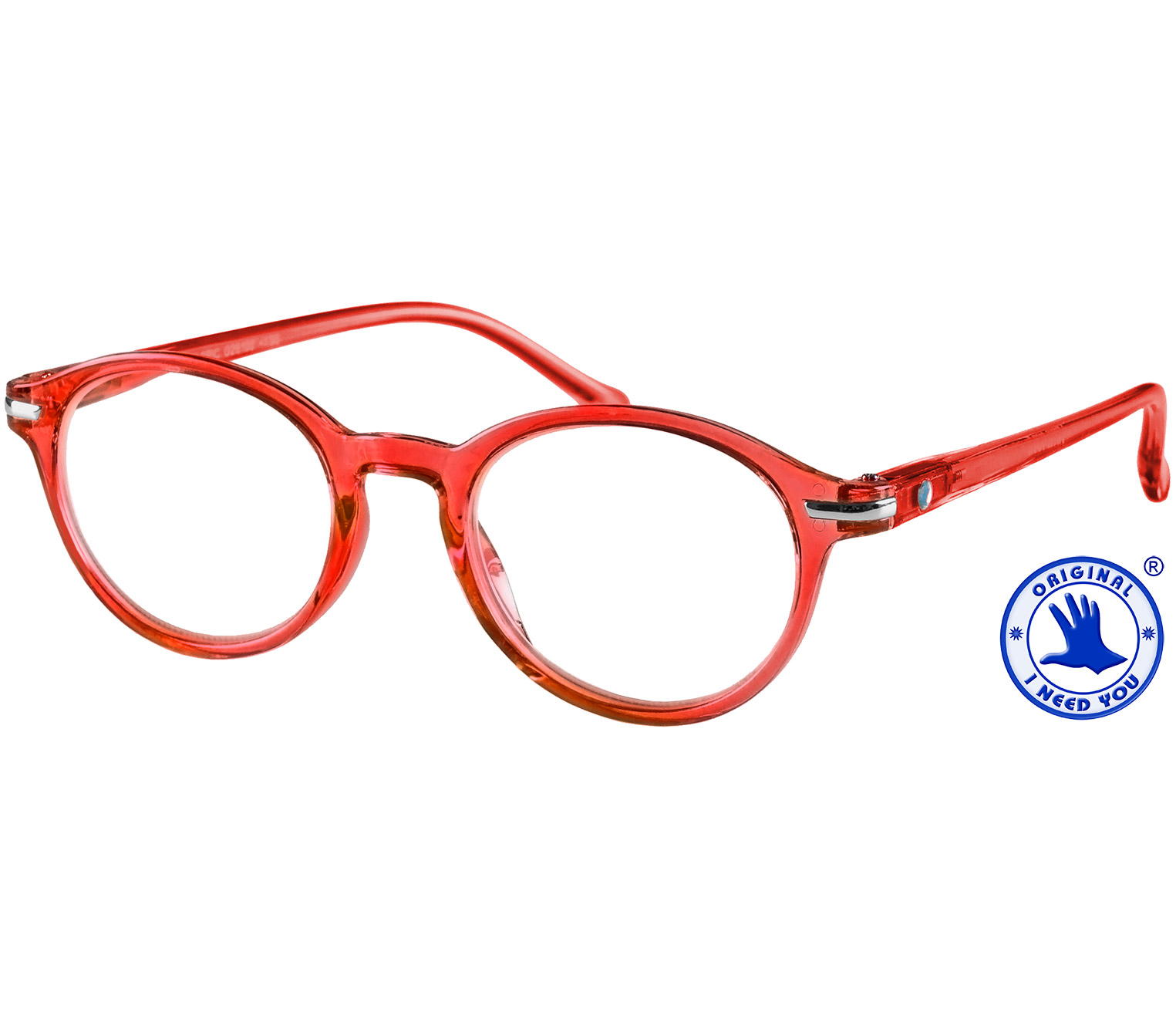 Main Image (Angle) - Tropic (Red) Retro Reading Glasses