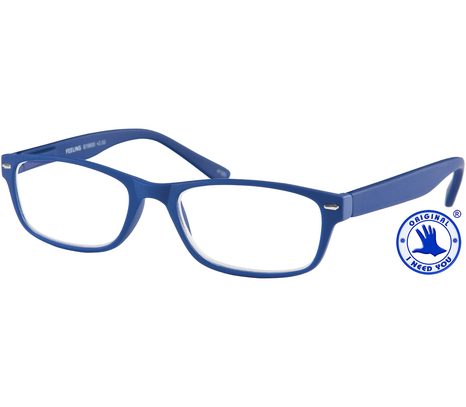 Main Image (Angle) - Feeling (Blue) Classic Reading Glasses