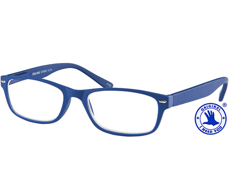 Feeling (Blue) Classic Reading Glasses - Thumbnail Product Image