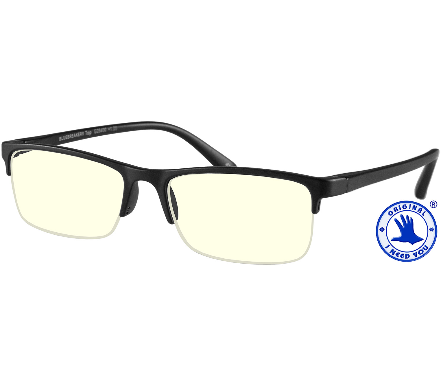 Main Image (Angle) - Sonar (Black) Blue Light Glasses Reading Glasses