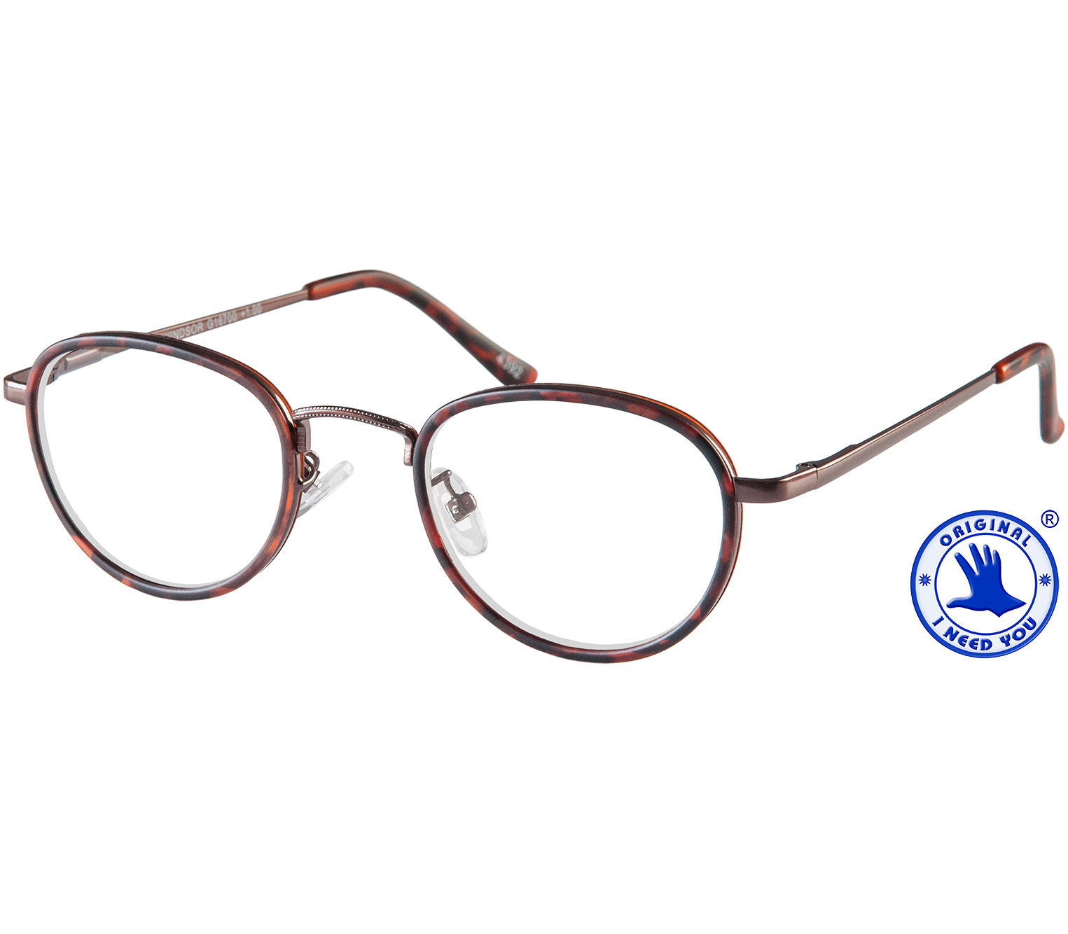 Main Image (Angle) - Windsor (Tortoiseshell) Retro Reading Glasses