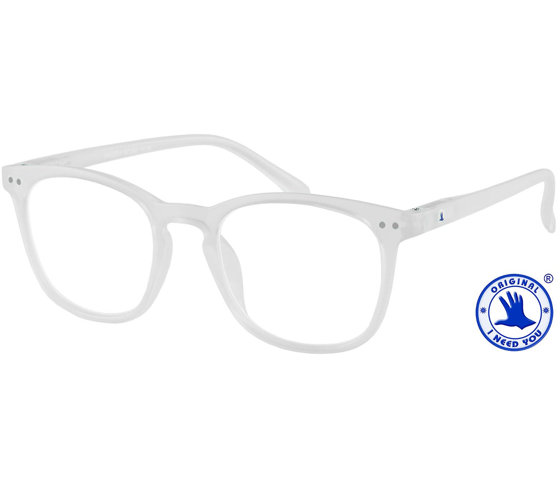 Main Image (Angle) - Frozen (Clear) Retro Reading Glasses