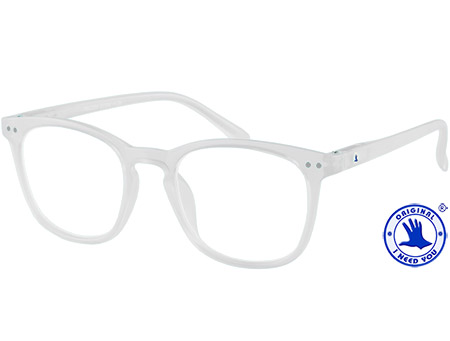 Frozen (Clear) Retro Reading Glasses - Thumbnail Product Image