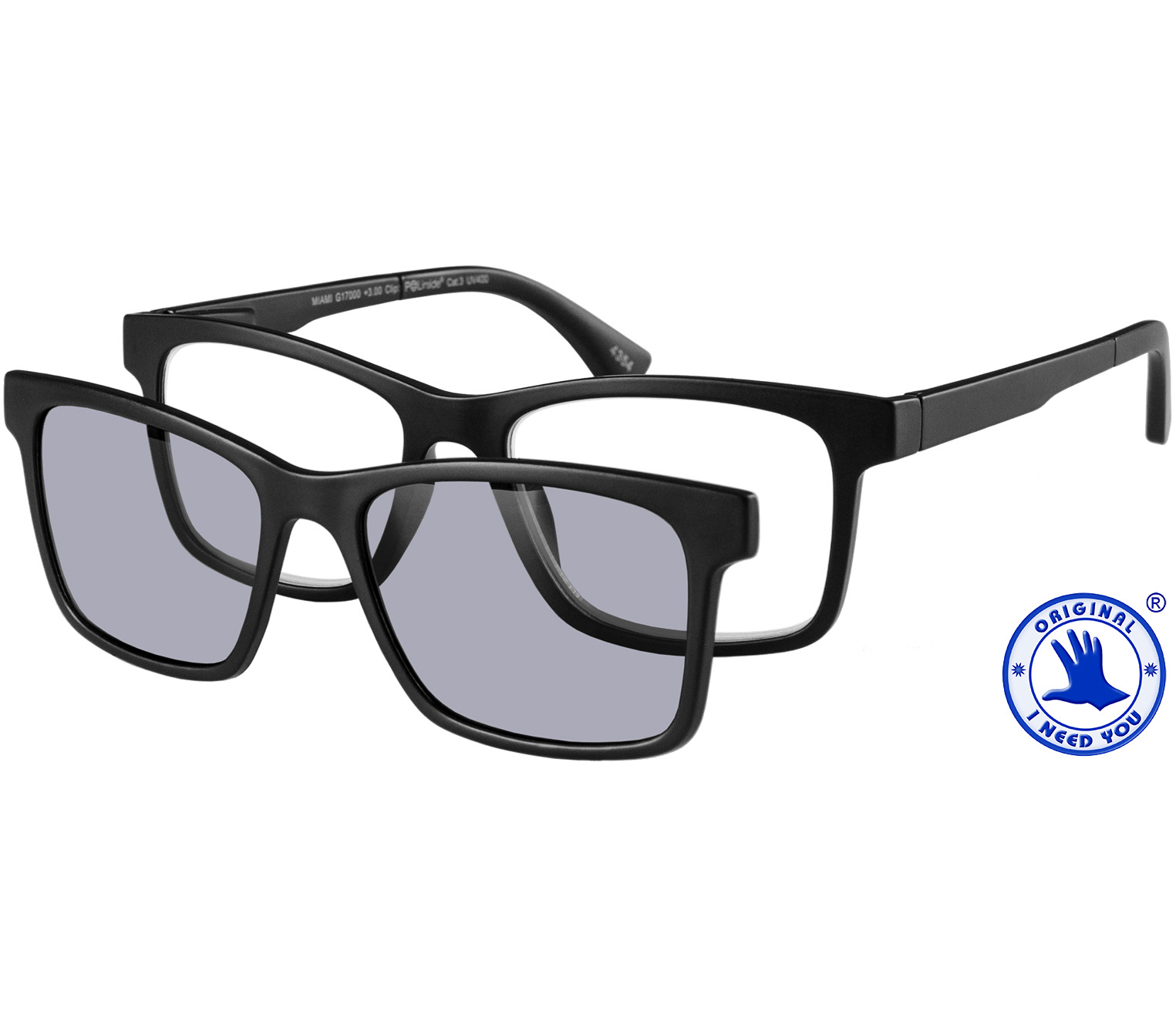 Main Image (Angle) - Switch (Black) Magnetic Clip On Sun Readers