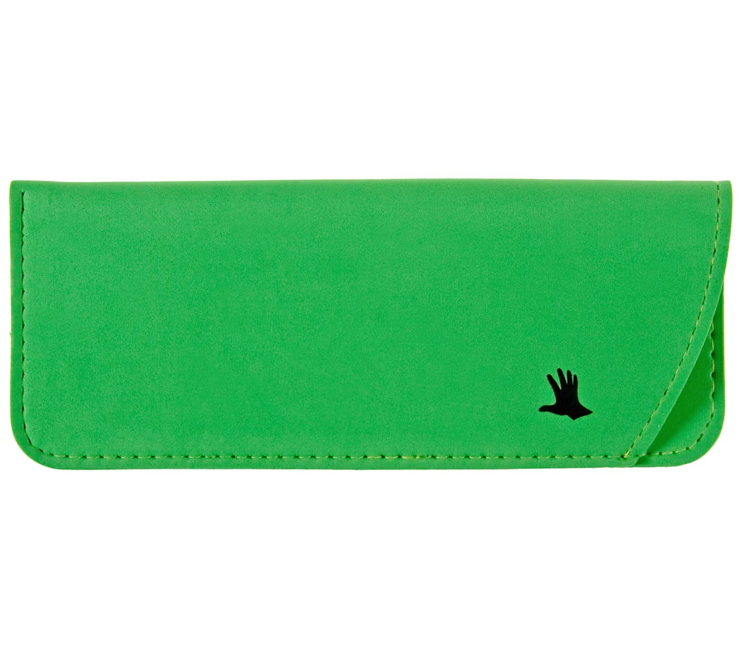 Main Image (Angle) - Moosy (Green) Glasses Pouches Accessories