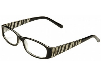Zebra (Black) Fashion Reading Glasses