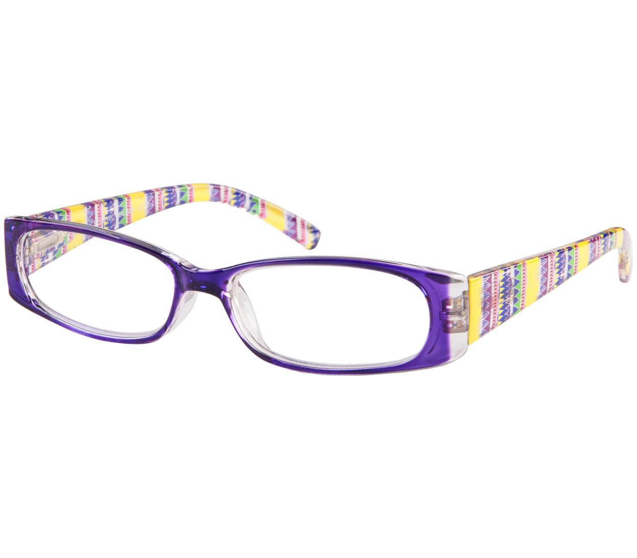 Main Image (Angle) - Aztec (Purple) Fashion Reading Glasses