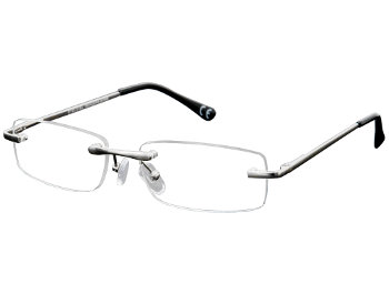 York (Silver) Rimless Reading Glasses