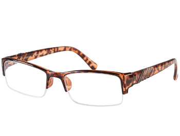 President (Tortoiseshell) Semi-rimless Reading Glasses