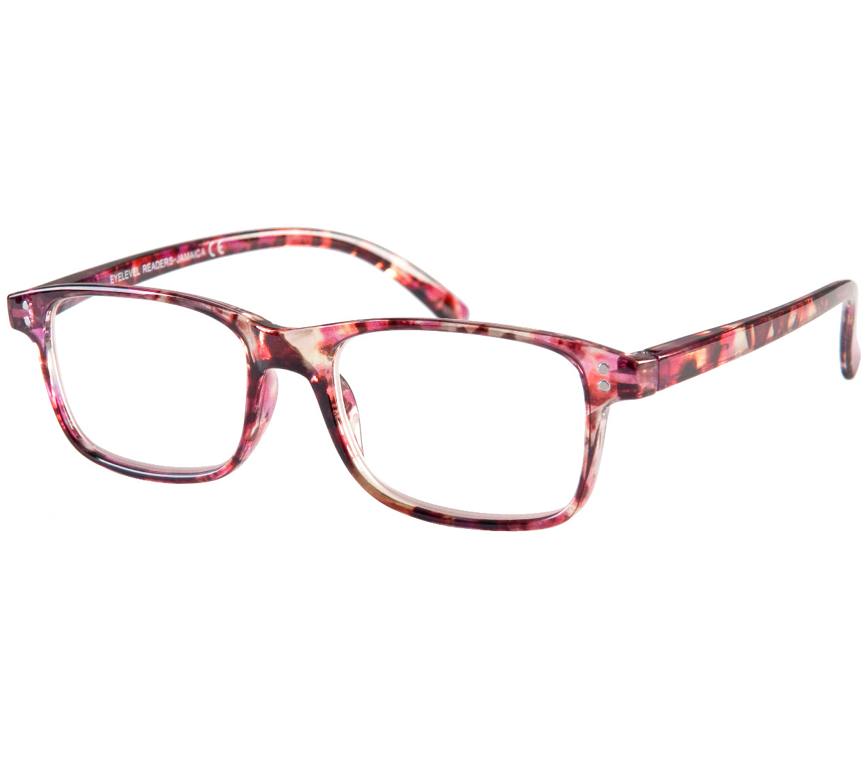 Main Image (Angle) - Jamaica (Pink) Fashion Reading Glasses