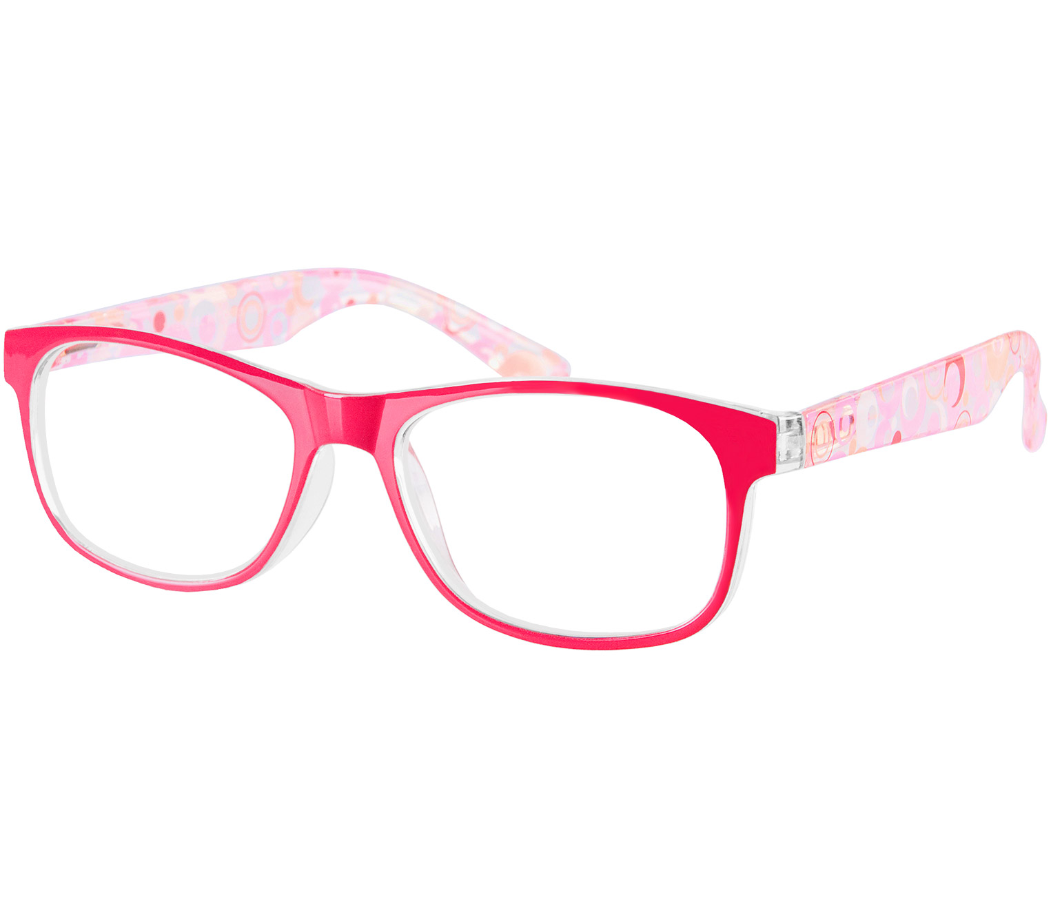 Main Image (Angle) - Fizz (Red) Fashion Reading Glasses