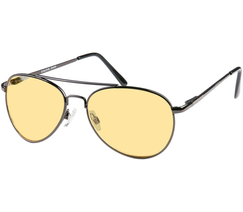 Main Image (Angle) - Sprint (Gunmetal) Night Driving Glasses Sunglasses