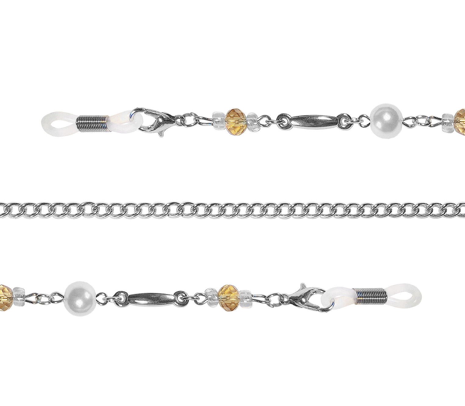 Main Image (Angle) - Reflex (Silver) Glasses Chains Accessories