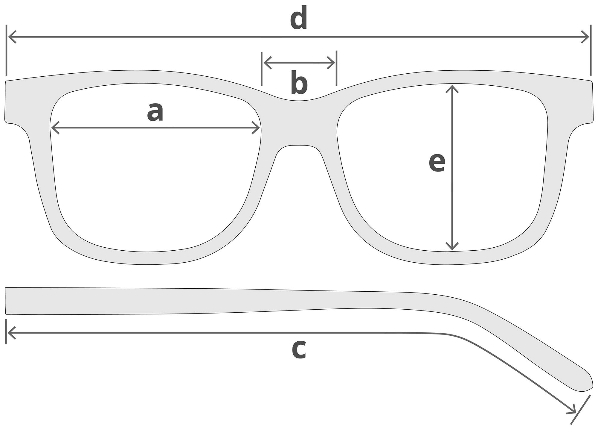 Glasses Measurements Diagram